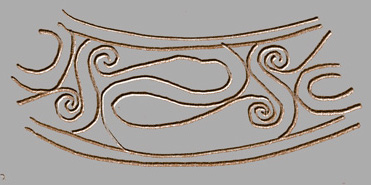 interconnected spirals, British Iron Age design