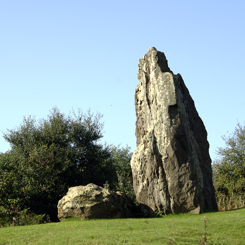 Standing stone at Mottistone, Isle of Wight