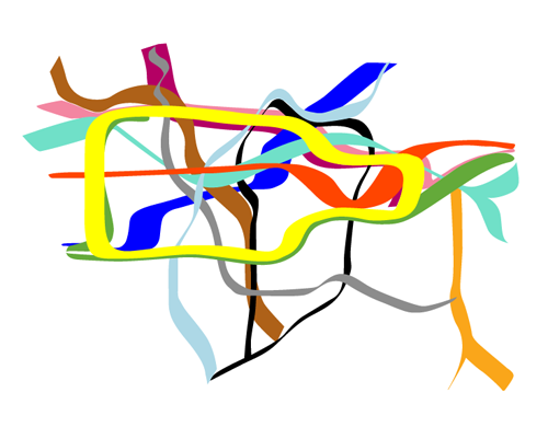 stylistic image of the London Underground network